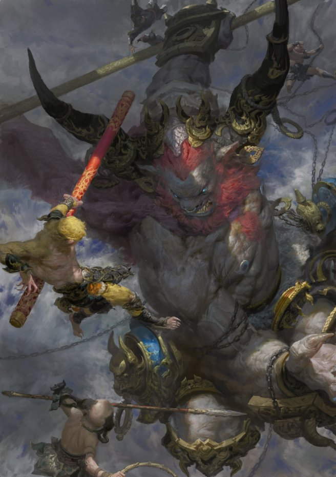 fenghua-zhong-bull-demon-king-vs-monkey-king